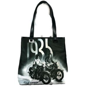Harley Davidson 1935 Black & White Purse